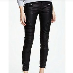 BLANK NYC Vegan Leather Moto Pant Daddy Soda Black